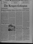 Kenyon Collegian - October 17, 1991