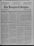Kenyon Collegian - November 14, 1991