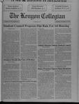 Kenyon Collegian - November 21, 1991