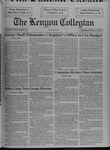 Kenyon Collegian - February 11, 1993