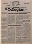Kenyon Collegian - October 31, 1985