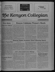 Kenyon Collegian - March 30, 1989