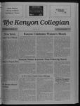 Kenyon Collegian - March 30, 1989