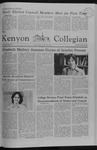 Kenyon Collegian - October 15, 1981