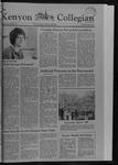 Kenyon Collegian - May 6, 1982