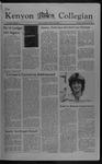 Kenyon Collegian - September 23, 1982
