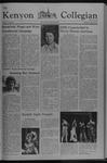 Kenyon Collegian - October 28, 1976
