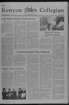 Kenyon Collegian - February 3, 1977