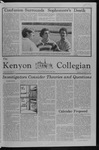 Kenyon Collegian - November 15, 1979