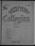Kenyon Collegian - April 1899
