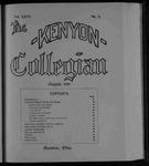 Kenyon Collegian - August 1899
