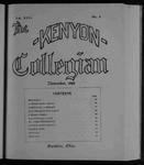 Kenyon Collegian - November 1899
