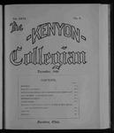 Kenyon Collegian - December 1899