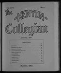 Kenyon Collegian - January 1900