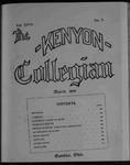 Kenyon Collegian - March 1900