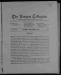 Kenyon Collegian - April 1903