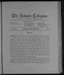 Kenyon Collegian - May 1903