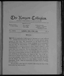 Kenyon Collegian - June 1903