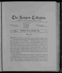 Kenyon Collegian - October 1903