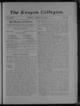 Kenyon Collegian - March 31, 1905