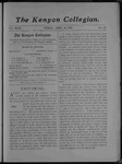 Kenyon Collegian - April 14, 1905