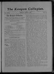 Kenyon Collegian - June 6, 1905