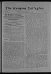 Kenyon Collegian - December 1, 1905