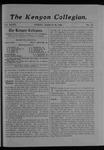 Kenyon Collegian - March 30, 1906