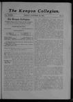 Kenyon Collegian - October 12, 1906