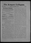 Kenyon Collegian - November 9, 1906