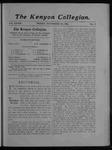 Kenyon Collegian - November 23, 1906