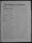 Kenyon Collegian - January 25, 1907