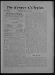 Kenyon Collegian - March 15, 1907