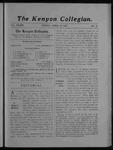 Kenyon Collegian - April 19, 1907