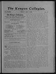 Kenyon Collegian - May 3, 1907
