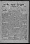 Kenyon Collegian - December 17, 1909