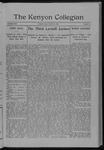 Kenyon Collegian - March 10, 1910