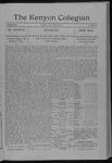 Kenyon Collegian - April 22, 1910
