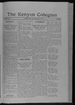 Kenyon Collegian - May 3, 1911