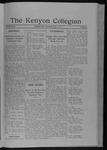 Kenyon Collegian - May 3, 1911