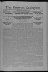 Kenyon Collegian - November 24, 1914