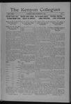 Kenyon Collegian - October 28, 1916