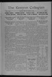 Kenyon Collegian - November 15, 1916