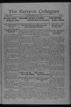 Kenyon Collegian - May 9, 1917