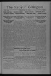 Kenyon Collegian - May 29, 1917