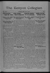 Kenyon Collegian - May 9, 1918