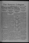 Kenyon Collegian - May 6, 1920