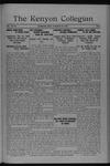 Kenyon Collegian - October 20, 1920