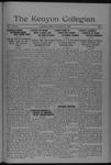 Kenyon Collegian - January 25, 1922