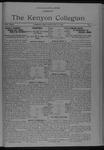 Kenyon Collegian - February 28, 1923